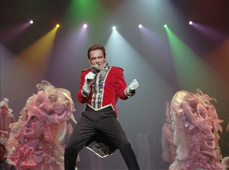 "Image: David Cassidy, star of ""EFX,"" sings during the show's 1000th performance at the MGM Grand in Las Vegas"