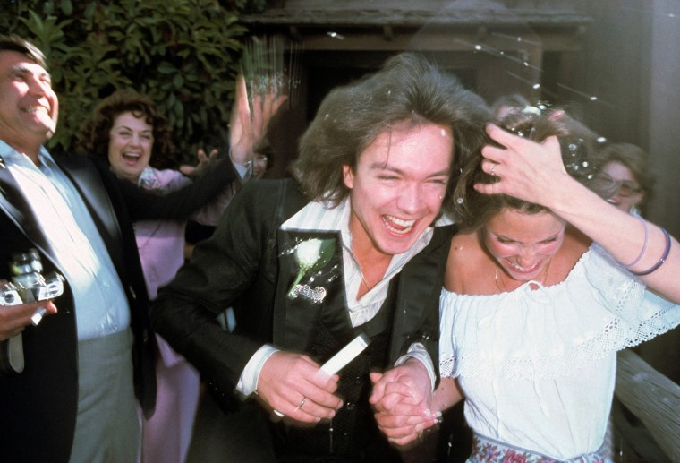 Image: David Cassidy and Kay Lenz at their wedding at The Little Church Of The West in Las Vegas