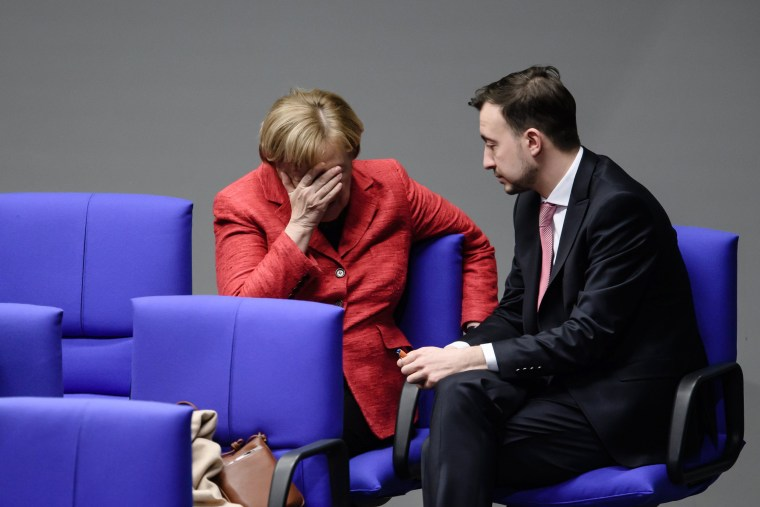 Image: Merkel attends a session of the German parliament