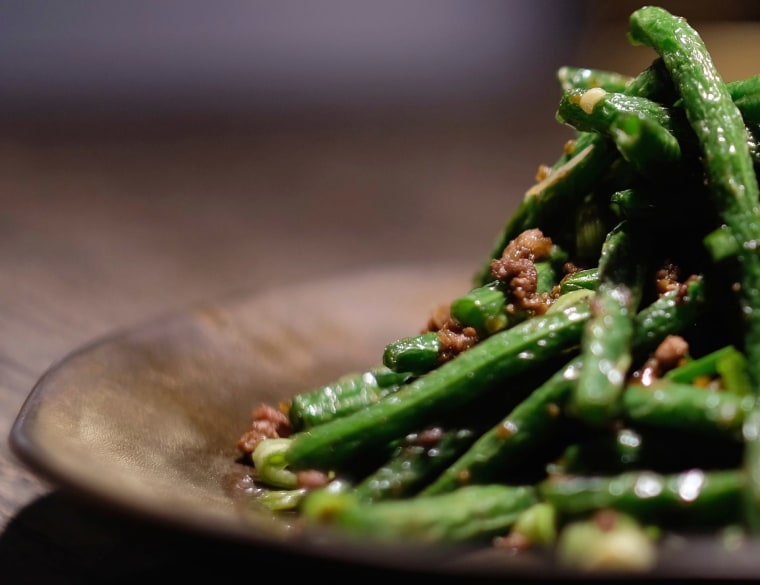 Green beans from Mala Sichuan Bistro in Houston.