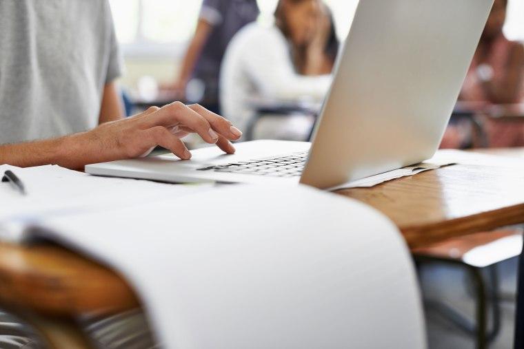 Image: Man Typing