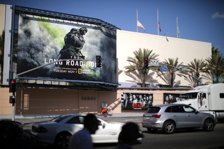 Image: The Twenty-First Century Fox Studios building is seen in Los Angeles
