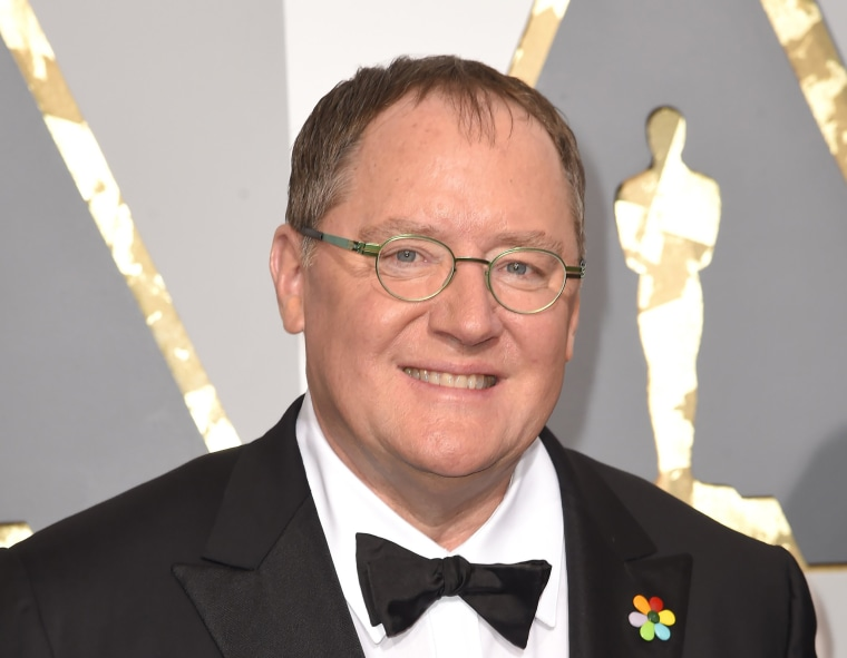 Image: John Lasseter arrives at the Oscars in Los Angeles