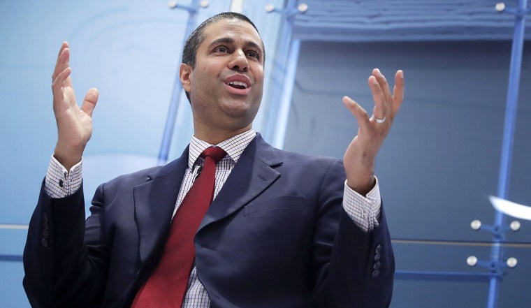 Image: Federal Communication Commission Chairman Ajit Pai participates in a discussion about his accomplishments