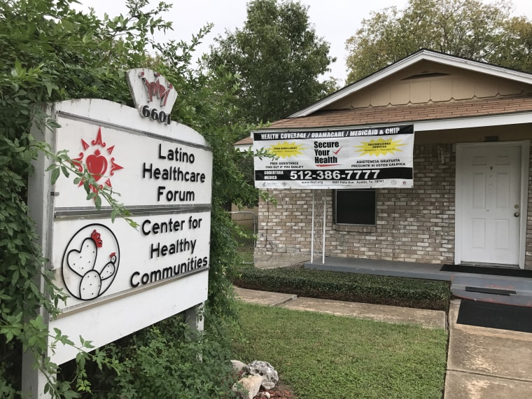 The office of Latino HealthCare Forum in Austin which had its funding for hiring navigators to enroll Latinos in Obamacare in 2017 drastically cut.