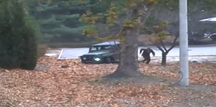 Image: North Korea defecting soldier - United Nations Command footage released