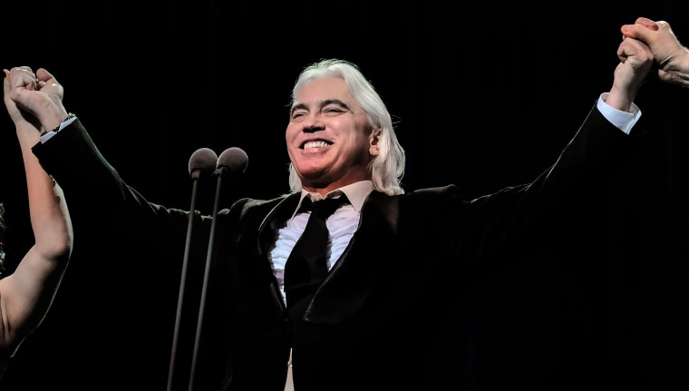 Image: Opera singer Dmitri Hvorostovsky during a concert from the series Hvorostovsky and Friends