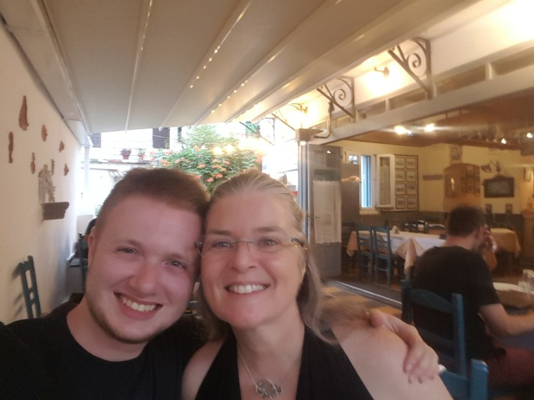 Robin Rice (left) and her son, Taylor.