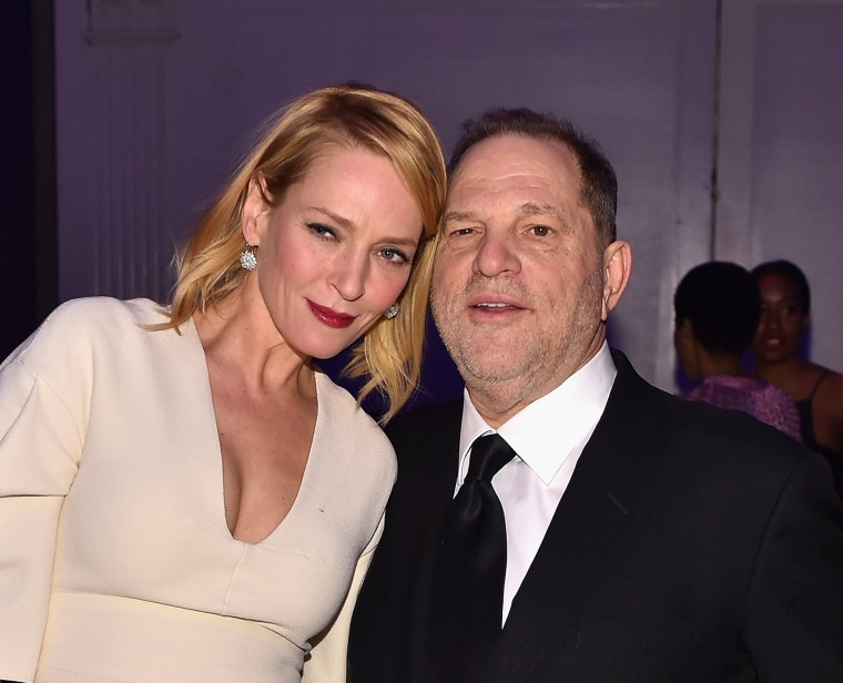 Image: Uma Thurman, Harvey Weinstein