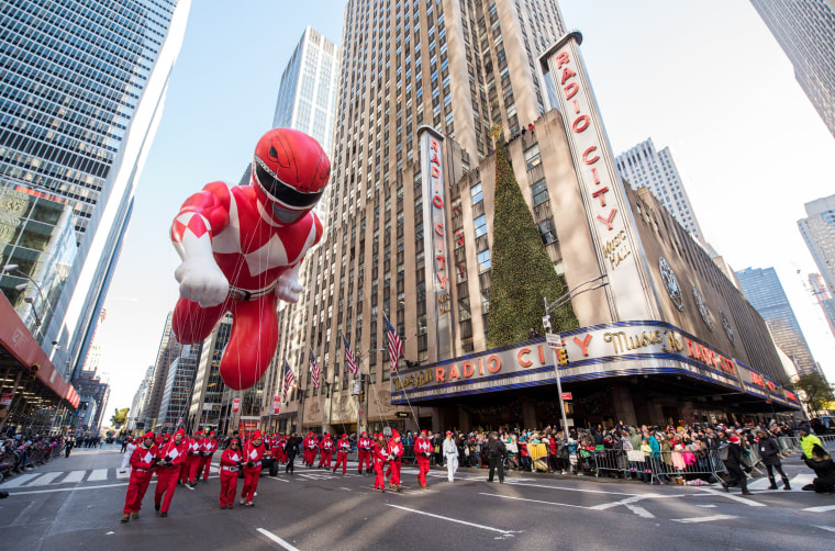 Image: Power Rangers Balloon at the 91st Annual Macy's Thanksgiving Day Parade