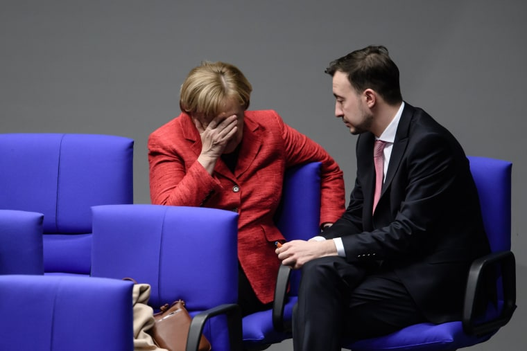 Image: Merkel attends a session of the German 'Bundestag' parliament