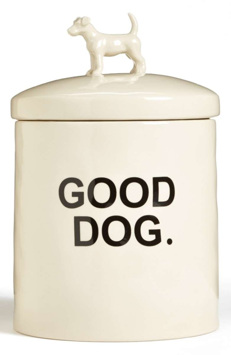 "Rae Dunn ""Wilma"" Dog Treat Jar"
