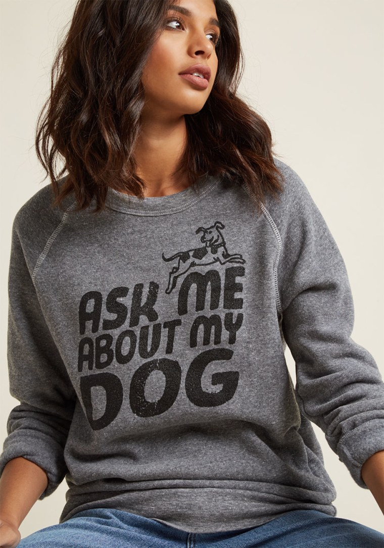 Modcloth Fur Our Conversation Sweatshirt