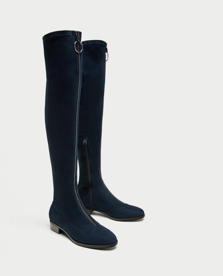Zippered boots