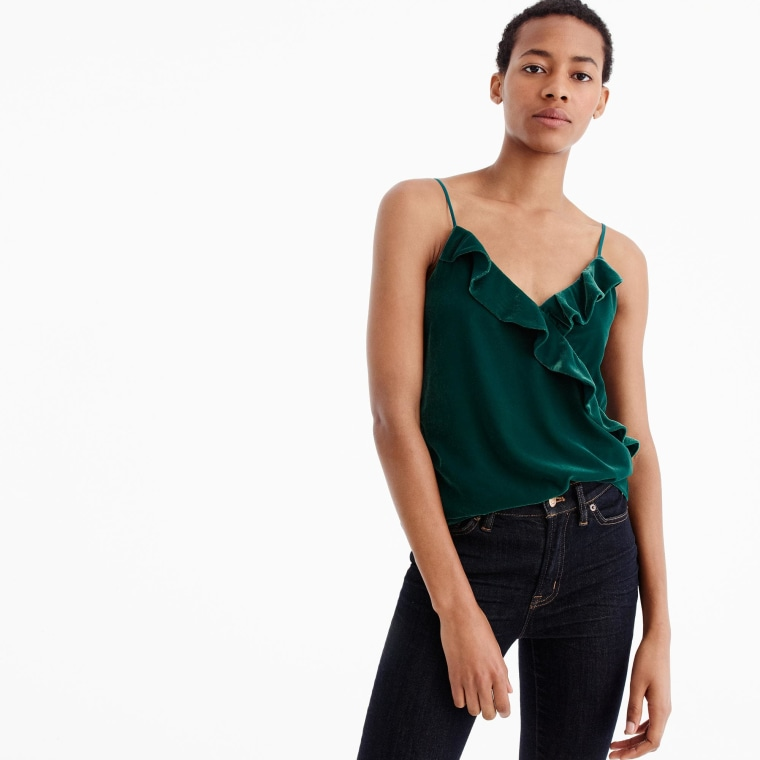 J. Crew velvet going out top