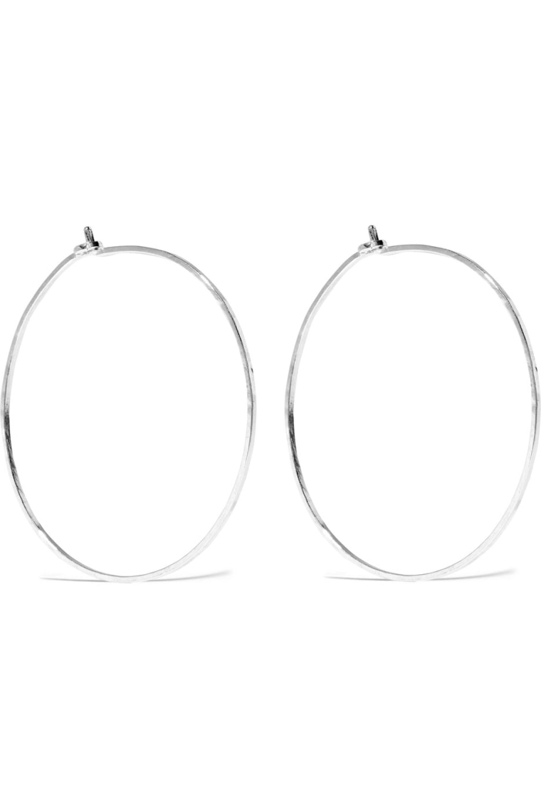 Catbird dream silver hoop earrings