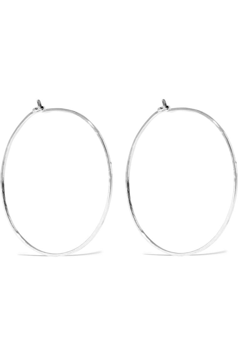 Catbird dream silver hoop earrings