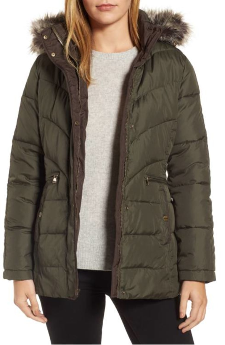 Larry Levine Quilted coat