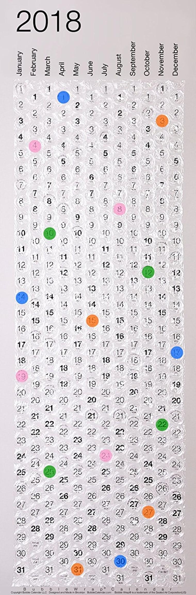 Bubblewrap Calendar