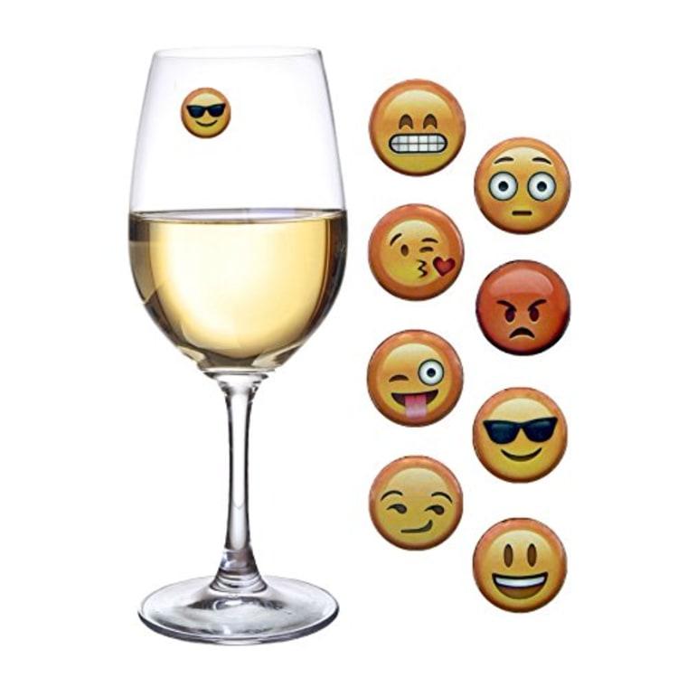 Simply Charmed Emoji Wine Charms