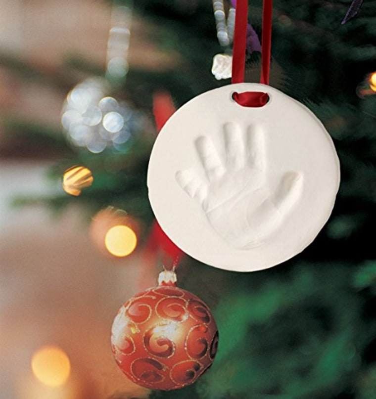 Baby's first christmas ornament - handprint and footprint