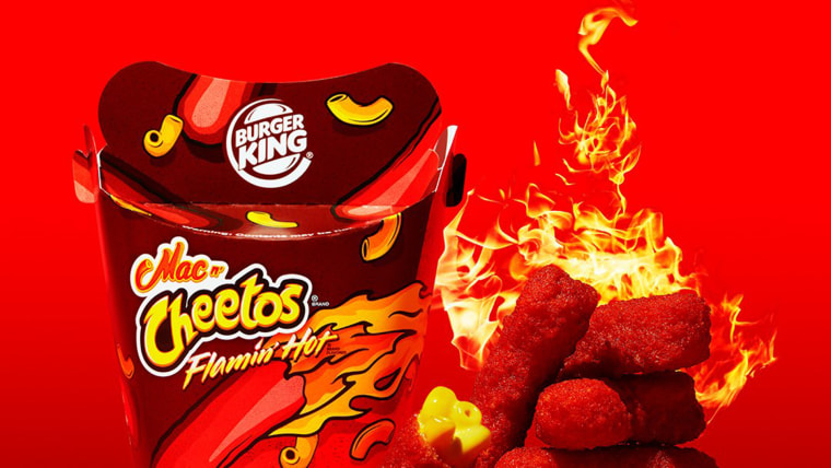 Flamin' hot cheetos Burger King