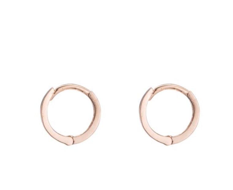 Rose gold hoops