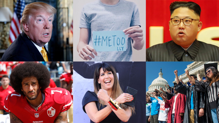 A sample of the finalists being considered as TIME's 2017 Person of the Year.