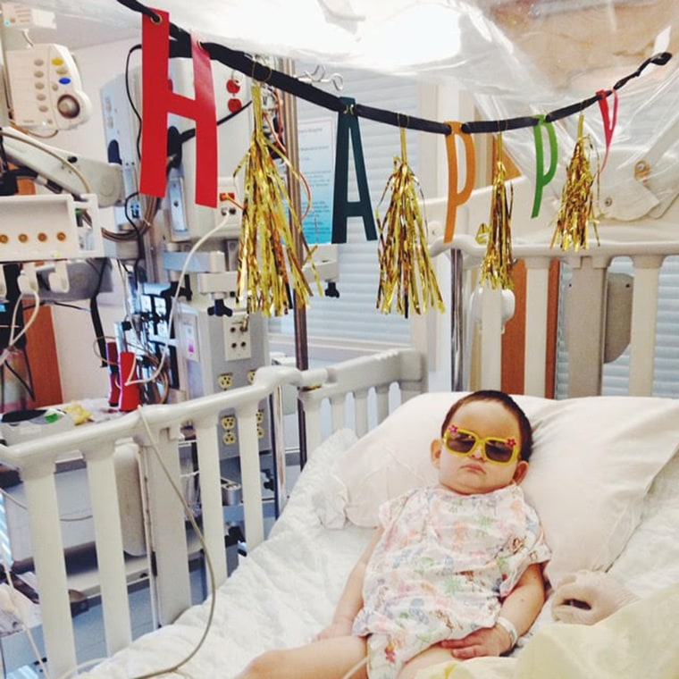 Having two children with serious medical needs meant the Gauvins needed to be flexible, such as having birthday parties in the ICU.