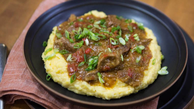 Michael Gulotta makes Pork Grillades with Cheesy Grits