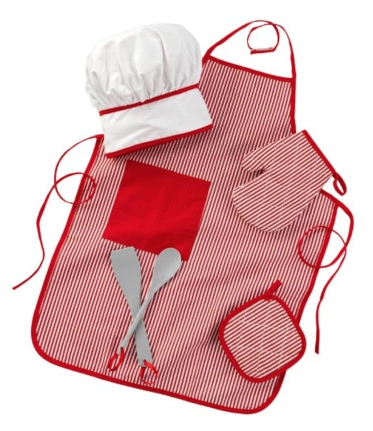 Kids Chef Accessories Apron Hat