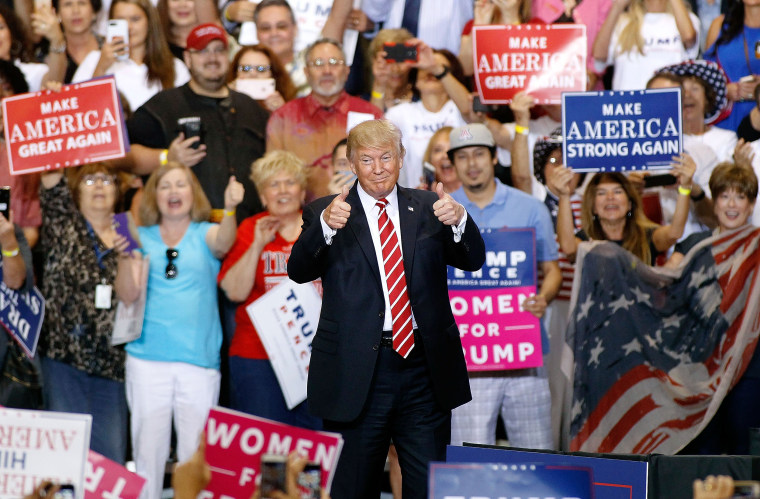 Image: President Trump Holds Rally In Phoenix, Arizona