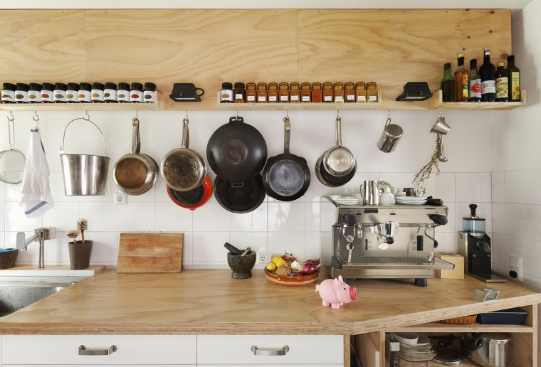 counter space and cooking utensils in modern kitchen - Kitchen Items
