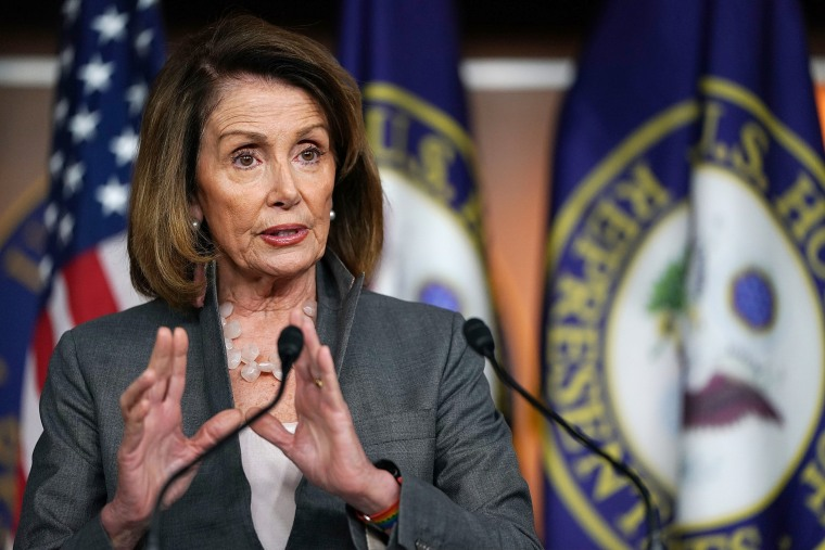 Image: House Minority Leader Nancy Pelosi holds a news conference