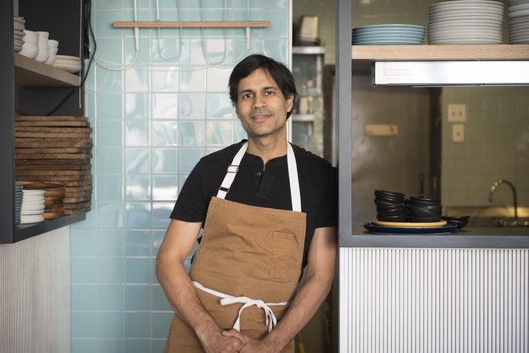 Chef Akhtar Nawab at Alta Calidad in Brooklyn, New York City.