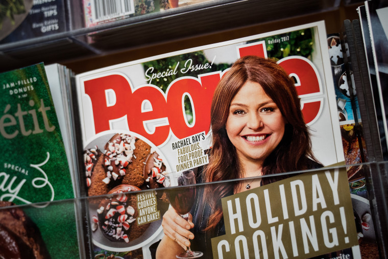 Image: A copy of People Magazine, owned by Time Inc., sits on a bookstore shelf