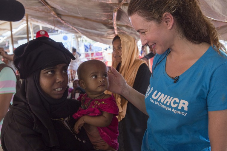 Image: UNHCR Goodwill Ambassador Kristin Davis