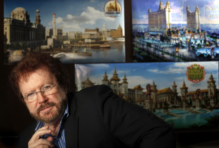 Image: Gary Goddard sits in his office meeting room in North Hollywood, California