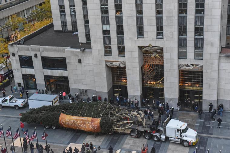 Image: Rockefeller Center Christmas Tree Arrives In New York City
