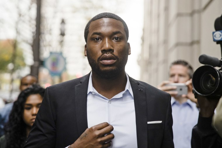 Image: Rapper Meek Mill arrives at the criminal justice center in Philadelphia