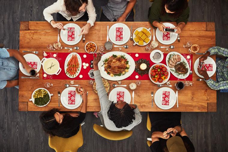 Image: People Gather Around Food