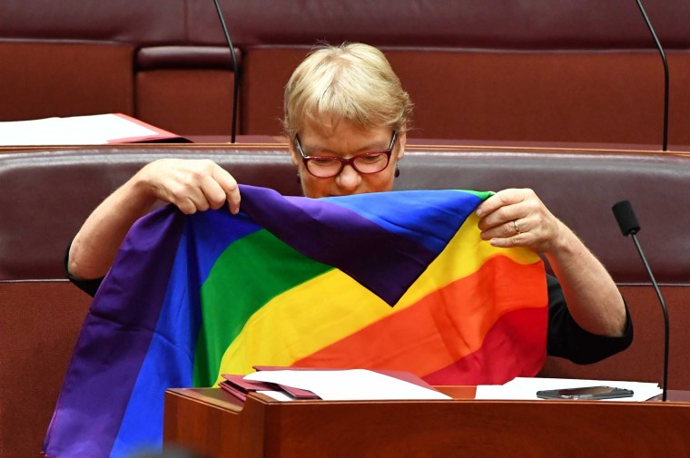 Image: Senate vote on same-sex marriage bill at Parliament House in Canberra