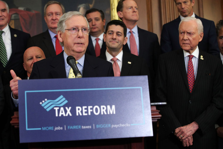 Image: House And Senate Republican Leaders Release Tax Reform Plan