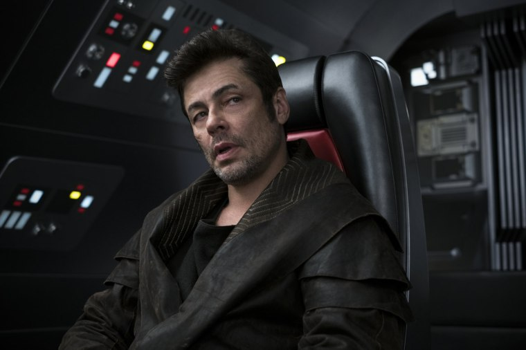 "Image: Benicio Del Toro in ""Stars Wars: The Last Jedi"""