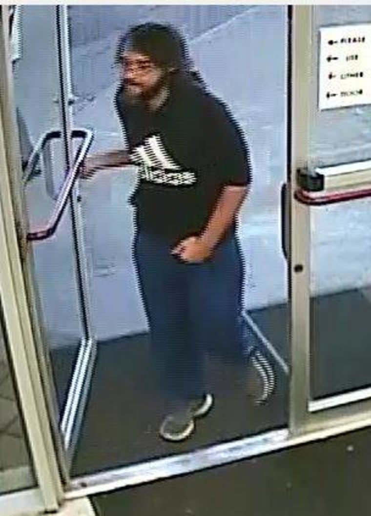 Image: Surveillance photo of a man the police say walked into a convenience store in Oklahoma City and stole over $400 worth of beef jerky
