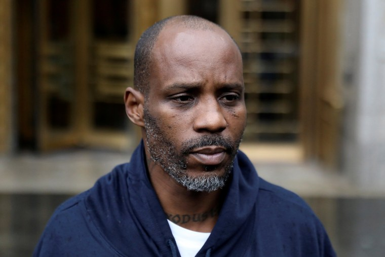 Image: FILE PHOTO: Rapper DMX exits the U.S. Federal Court in Manhattan following his presentment on income tax evasion charges in New York
