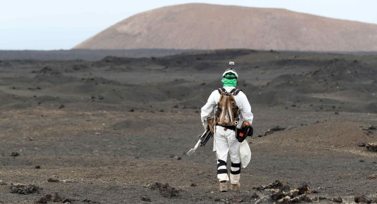 Image: The ESA astronauts and specimen collection in Lanzarote island