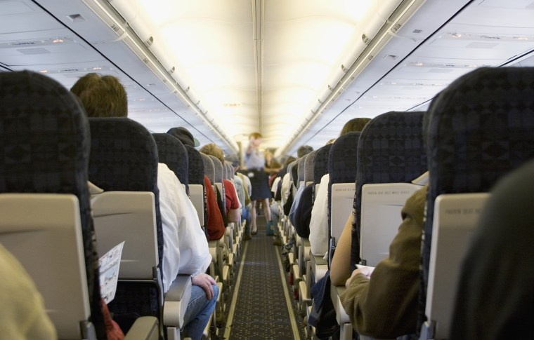 Image: Airplane aisle