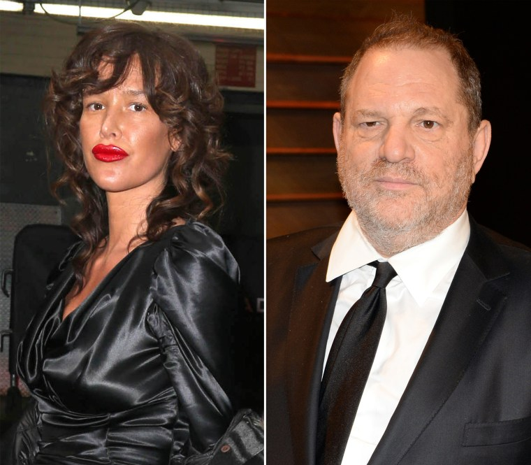 Image: Paz de la Huerta, left, and Harvey Weinstein.