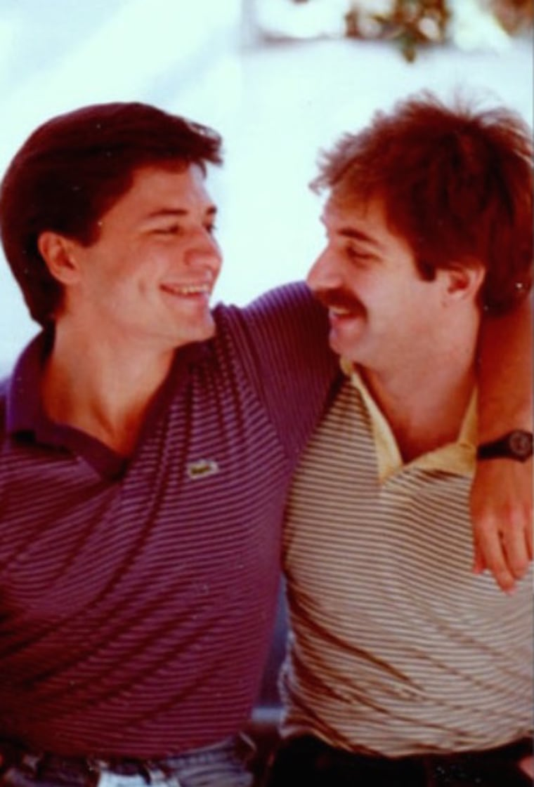 Nelson Vergel (left) with his boyfriend, Calvin (right), who succumbed to AIDS in 1992.